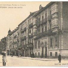 Postales: POSTAL VITORIA CALLE DE DATO HOTEL QUINTANILLA . Lote 171523267