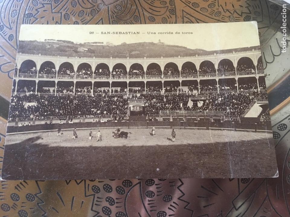 SAN SEBASTIÁN PLAZA DE TOROS (Postales - España - Pais Vasco Antigua (hasta 1939))