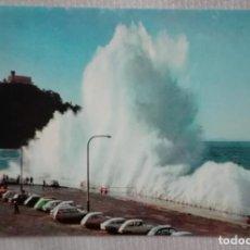 Postales: TEMPORAL SAN SEBASTIAN 1963, COCHES DE LA EPOCA SEAT 600 ETC SIN CIRCULAR. Lote 171670569