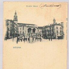 Postales: POSTAL VITORIA PLAZA VIEJA . Lote 171741918