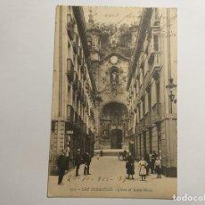 Postales: POSTAL ANTIGUA DE SAN SEBASTIÁN. IGLESIA DE SANTA MARÍA. AÑO 1915. ESCRITA. Lote 171777104