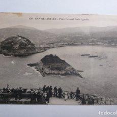 Postales: ANTIGUA POSTAL DE SAN SEBASTIAN. VISTA GENERAL DESDE IGUELDO. # 138.. Lote 171841600