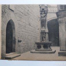 Postales: POSTAL GUIPUZCOA. SAN IGNACIO DE LOYOLA. PATIO Y FUENTE. CIRCULADA 1921. PAMPLONA. SELLOS ALFONSO. Lote 171996983