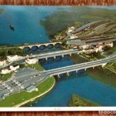 Cartes Postales: IRUN - GUIPUZCOA - VISTA AEREA DE LOS PUENTES INTERNACIONALES. Lote 172131352
