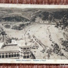 Postales: DEVA - GUIPUZCOA - HOTELES Y PLAYA - J. GARCIA FOTOGRAFO. Lote 172132249