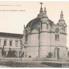 Postales: POSTAL VITORIA CAPILLA DE LA SAGRADA FAMILIA . Lote 173014850