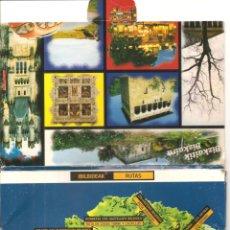 Postales: 9 POSTALES TIPO FICHA, RUTAS DE VIZCAYA, EN CARPETILLA, CON INFORMACIÓN EN REVERSO. Lote 173164750
