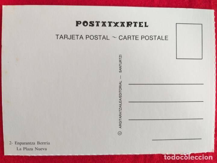 Postales: Postal de Bilbao, Vizcaya. Plaza nueva. # 2. Postatxartel. - Foto 2 - 173683877