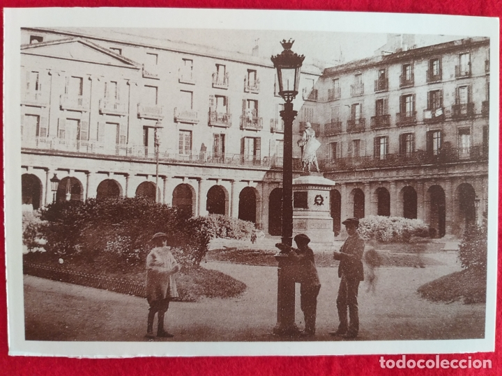 POSTAL DE BILBAO, VIZCAYA. PLAZA NUEVA. # 2. POSTATXARTEL. (Postales - España - País Vasco Moderna (desde 1940))