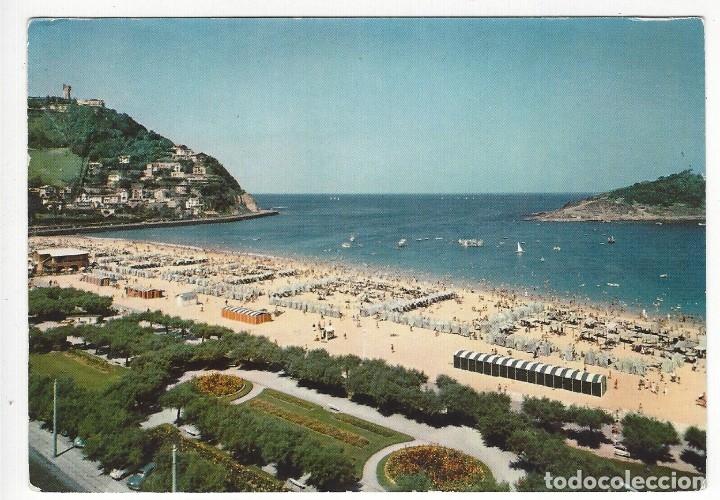 11- SAN SEBASTIAN.- PLAYA DE ONDARRETA (Postales - España - País Vasco Moderna (desde 1940))