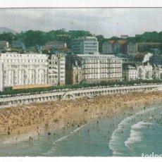 Postales: SAN SEBASTIAN.- PLAYA DE LA CONCHA Y HOTELS LONDRES Y CONTINENTAL. Lote 173841944