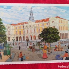 Postales: POSTAL DE BILBAO. BILBAO NAIF # 14. EL AYUNTAMIENTO. ED. ARGITARATZAILEA. GRUPO TRES.. Lote 173856969