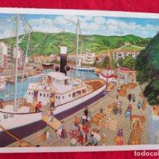 Postales: POSTAL DE BILBAO. BILBAO NAIF # 17. EL MUELLE DEL ARENAL. ED. ARGITARATZAILEA. GRUPO TRES.. Lote 173859620