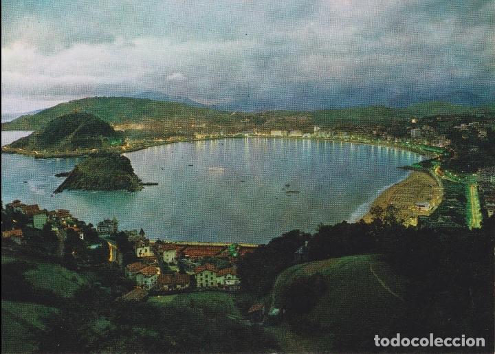 SAN SEBASTIAN, VISTA GENERAL DESDE IGUELDO, ILUMINADA - MANIPEL H.FOURNIER Nº 53 - S/C (Postales - España - País Vasco Moderna (desde 1940))