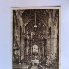 Postales: BILBAO. POSTAL BASÍLICA DE NTRA. SRA. DE BEGOÑA. ALTAR MAYOR EDITA: LUKER (H.1940?). Lote 174022310