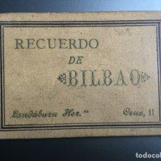 Postales: RECUERDO DE BILBAO LANDABURU HERMANAS - HAUSER Y MENET - 16 VISTAS. Lote 175039302