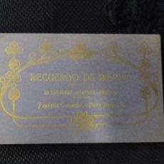 Postales: RECUERDO DE BILBAO 20 TARJETAS POSTALES. SERIE 2ª PAPELERÍA COMERCIAL. MERCADO, ALTOS HORNOS, ETC. Lote 175049834