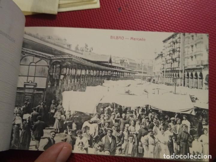 Postales: Recuerdo de Bilbao 20 tarjetas postales. Serie 2ª Papelería comercial. Mercado, Altos hornos, etc - Foto 2 - 175049834