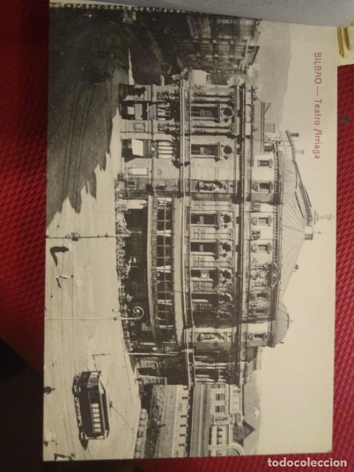 Postales: Recuerdo de Bilbao 20 tarjetas postales. Serie 2ª Papelería comercial. Mercado, Altos hornos, etc - Foto 3 - 175049834