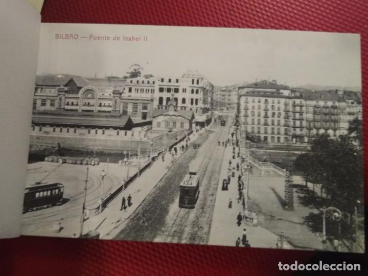 Postales: Recuerdo de Bilbao 20 tarjetas postales. Serie 2ª Papelería comercial. Mercado, Altos hornos, etc - Foto 4 - 175049834