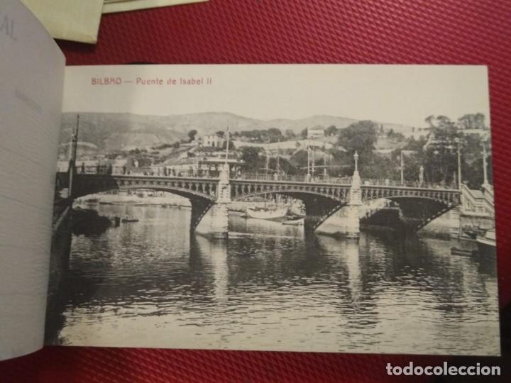 Postales: Recuerdo de Bilbao 20 tarjetas postales. Serie 2ª Papelería comercial. Mercado, Altos hornos, etc - Foto 5 - 175049834