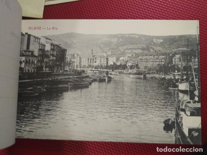 Postales: Recuerdo de Bilbao 20 tarjetas postales. Serie 2ª Papelería comercial. Mercado, Altos hornos, etc - Foto 6 - 175049834