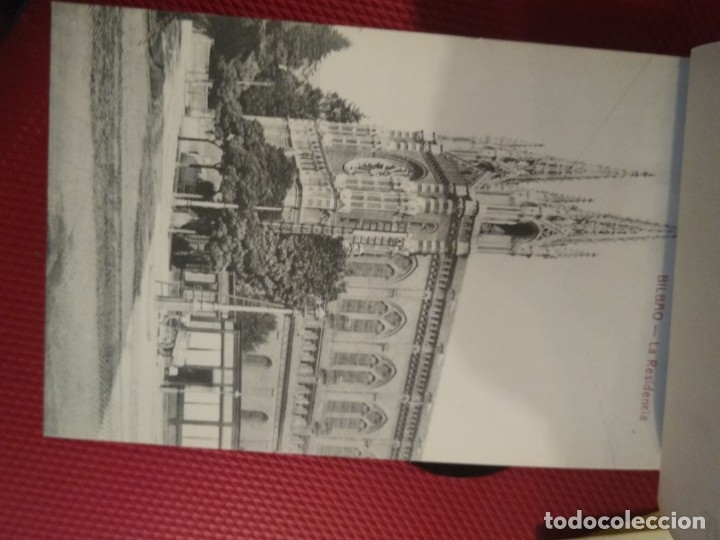 Postales: Recuerdo de Bilbao 20 tarjetas postales. Serie 2ª Papelería comercial. Mercado, Altos hornos, etc - Foto 7 - 175049834