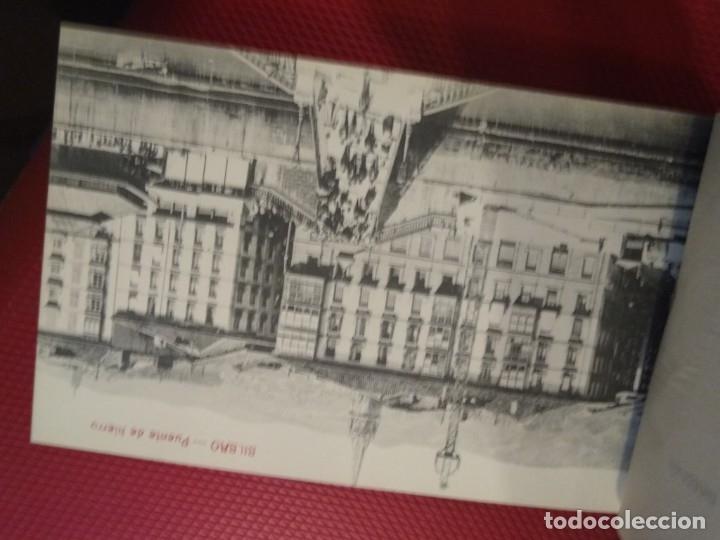 Postales: Recuerdo de Bilbao 20 tarjetas postales. Serie 2ª Papelería comercial. Mercado, Altos hornos, etc - Foto 8 - 175049834