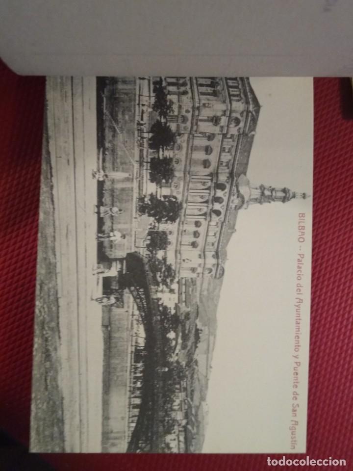 Postales: Recuerdo de Bilbao 20 tarjetas postales. Serie 2ª Papelería comercial. Mercado, Altos hornos, etc - Foto 9 - 175049834