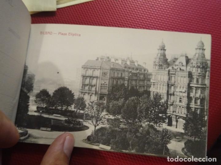 Postales: Recuerdo de Bilbao 20 tarjetas postales. Serie 2ª Papelería comercial. Mercado, Altos hornos, etc - Foto 10 - 175049834