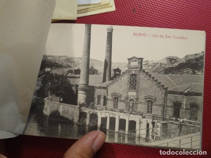 Postales: Recuerdo de Bilbao 20 tarjetas postales. Serie 2ª Papelería comercial. Mercado, Altos hornos, etc - Foto 11 - 175049834