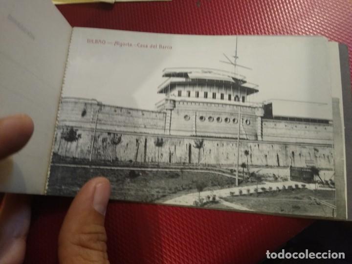 Postales: Recuerdo de Bilbao 20 tarjetas postales. Serie 2ª Papelería comercial. Mercado, Altos hornos, etc - Foto 17 - 175049834