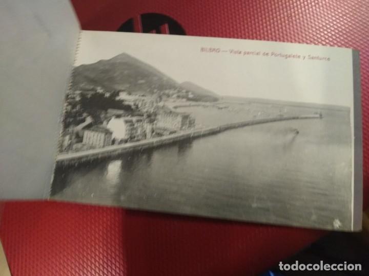 Postales: Recuerdo de Bilbao 20 tarjetas postales. Serie 2ª Papelería comercial. Mercado, Altos hornos, etc - Foto 18 - 175049834