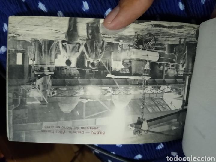 Postales: Recuerdo de Bilbao 20 tarjetas postales. Serie 2ª Papelería comercial. Mercado, Altos hornos, etc - Foto 19 - 175049834