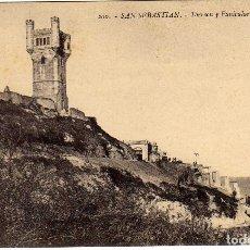 Cartes Postales: POSTAL SAN SEBASTIAN - TORREON Y FUNICULAR DE YGUELDO (IGUELDO). Lote 175137288