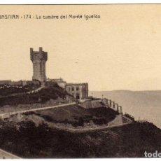 Cartes Postales: POSTAL SAN SEBASTIAN - LA CUMBRE DEL MONTE IGUELDO . Lote 175137372