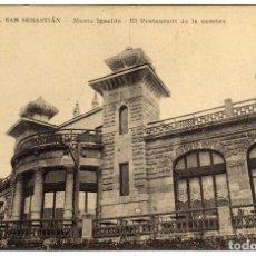 Cartes Postales: POSTAL SAN SEBASTIAN - MONTE IGUELDO - EL RESTAURANT DE LA CUMBRE . Lote 175138153