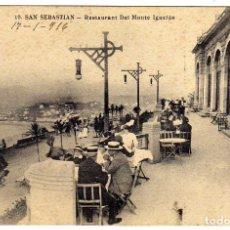 Cartes Postales: POSTAL SAN SEBASTIAN - RESTAURANT DEL MONTE IGUELDO . Lote 175138915