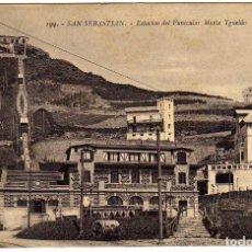 Cartes Postales: POSTAL SAN SEBASTIAN - ESTACION DEL FUNICULAR MONTE YGUELDO (IGUELDO). Lote 175140242