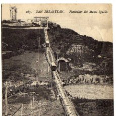 Cartes Postales: POSTAL SAN SEBASTIAN - FUNICULAR DEL MONTE IGUELDO - PRECIOSO MATASELLO DE BADALONA (BARCELONA). Lote 175140555
