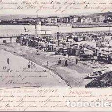 Postales: PORTUGALETE (VIZCAYA) - PLAYA DE BAÑOS Y LAS ARENAS. Lote 175228057
