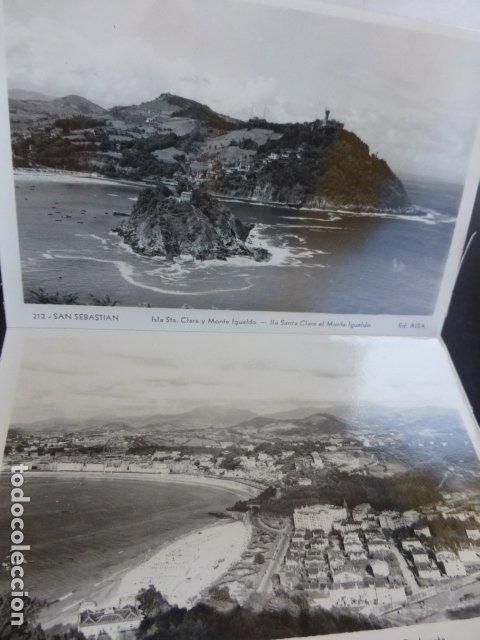 Postales: SAN SEBASTIAN CUADERNILLO CON 10 POSTALES EDICIONES AISA - Foto 2 - 175249910