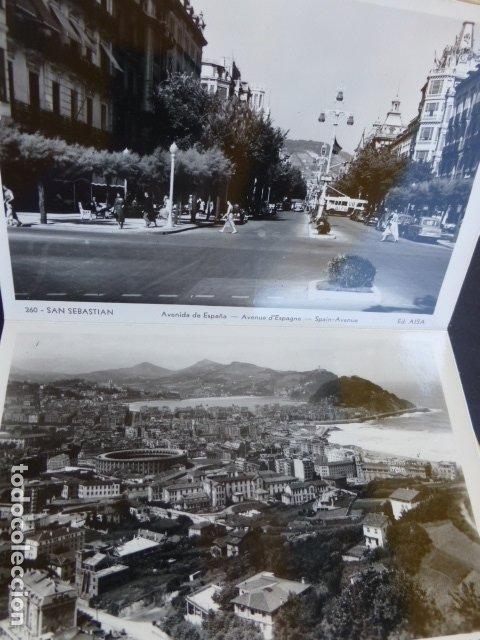 Postales: SAN SEBASTIAN CUADERNILLO CON 10 POSTALES EDICIONES AISA - Foto 6 - 175249910
