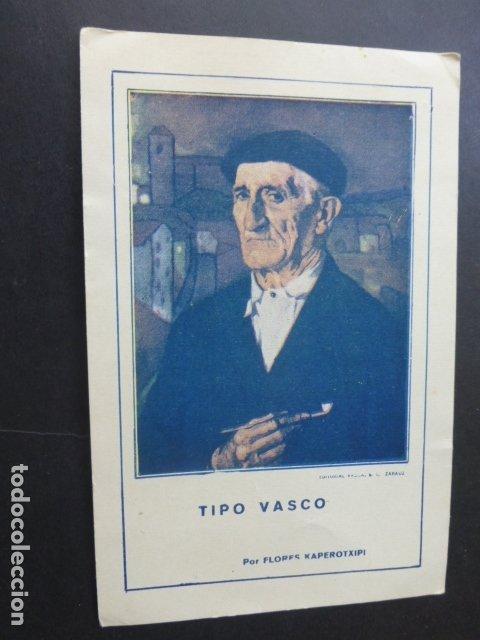 ZARAUZ GUIPUZCOA TIPO VASCO TARJETA PUBLICIDAD MUEBLES DE LUJO VDA E HIJOS DE ARRUTI (Postales - España - Pais Vasco Antigua (hasta 1939))