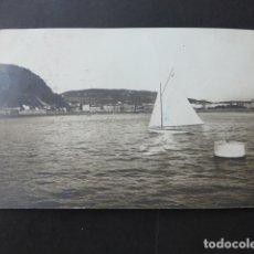Postales: SAN SEBASTIAN POSTAL FOTOGRAFICA VISTA DESDE EL MAR ESCRITA EN 1912. Lote 176108890