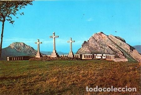 URKIOLA - 2 LAS TRES CRUCES, AL FONDO MUGARRA Y UNTZILLA (Postales - España - País Vasco Moderna (desde 1940))