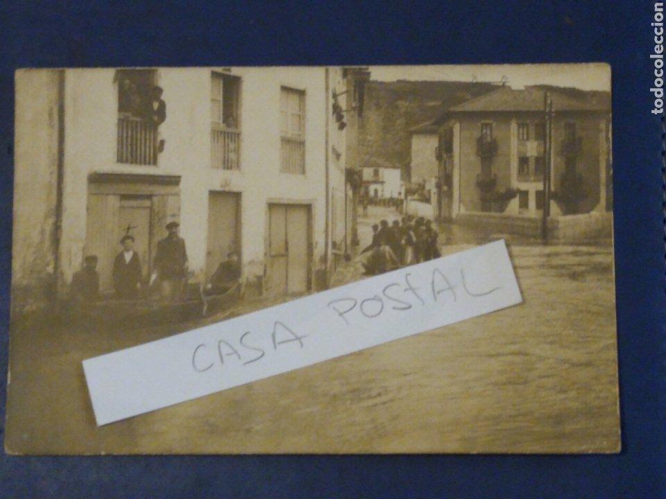 POSTAL FOTOGRAFICA. DESBORDAMIENTO O INUNDACIÓN DURANGO. VIZCAYA. (Postales - España - Pais Vasco Antigua (hasta 1939))
