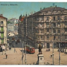 Postales: BILBAO - PLAZA CIRCULAR Y ESTACIÓN. Lote 176391695