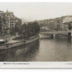 Postales: BILBAO - PUENTE DE LA MERCED. Lote 176393034