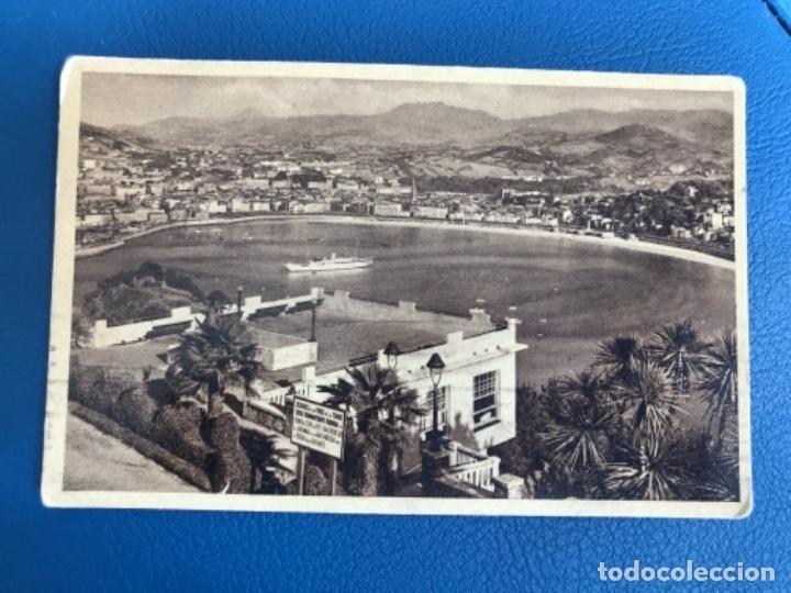 SAN SEBASTIAN POSTAL ALBUMINA PAIS VASCO VISTA DESDE MONTE I (Postales - España - Pais Vasco Antigua (hasta 1939))